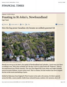 #1 Feasting in St John's, Newfoundland - FT.com