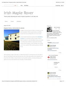 Irish Maple Rover: Musgrave Harbour, Newfoundland & Labrador