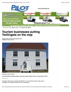 #1 Tourism businesses putting Twillingate on the map - Local - The Pilot